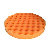 Круг полировальный 180x25мм волнистый, оранжевый, полужесткий, на липучке