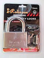 Замок навесной Rolinson EXTRA 70мм, 4 ключа, в блистерной упаковке