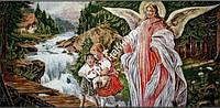 "Картина ""Ангел-Хранитель"" Гобелен в раме (размер 580*1080)"