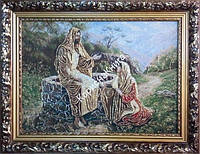 Картина - гобелен в раме «Христос у Марфы Марии»  Семирадский Генрих (Размер 490*690)