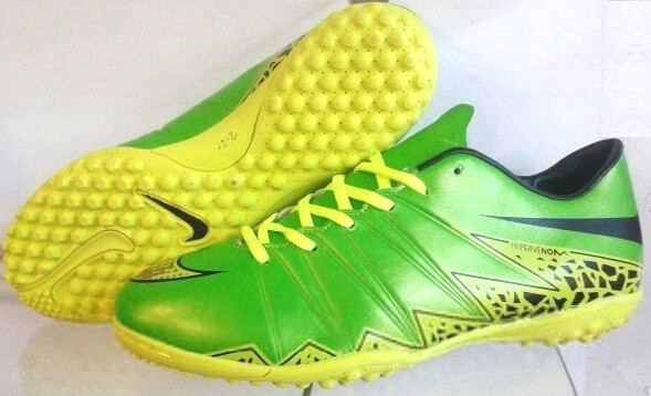 Футбольные сороконожки Nike Hypervenom Phelon II TF Green Strike/Black/Volt