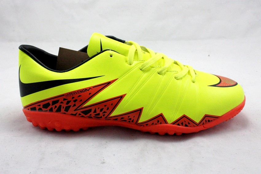 Футбольные сороконожки Nike Hypervenom Phelon II TF Volt/Total Orange/Black