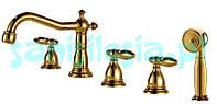 Смеситель для ванны ROYAL РЕТРО золотой цвет