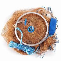 Кастинговая сеть нить  парашут  4 м диаметр 3 высота ∅12мм ,для промышленного лова