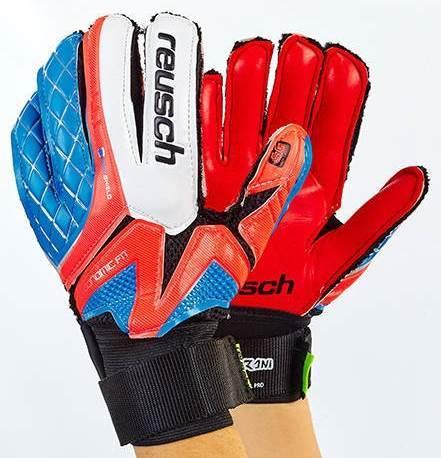 Рукавички воротарські юніорські FB-853B-2 REUSCH (PVC, р-р 5- 7, синій-малиновий-чорний) розмір 7