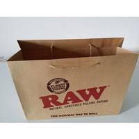 Пакет бумажный крафт бурый с логотипом №12 (290х240х100)