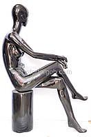 Манекен женский в полный рост разборный на стульчике, фото 1
