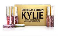 Набор матовых жидких губных помад Kylie Birthday Edition