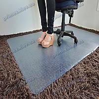 Ковер под кресло прозрачный 121х134см Германия для ковролина. Толщина 2,3мм