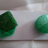 Магниты-подхваты зеленые для тюли