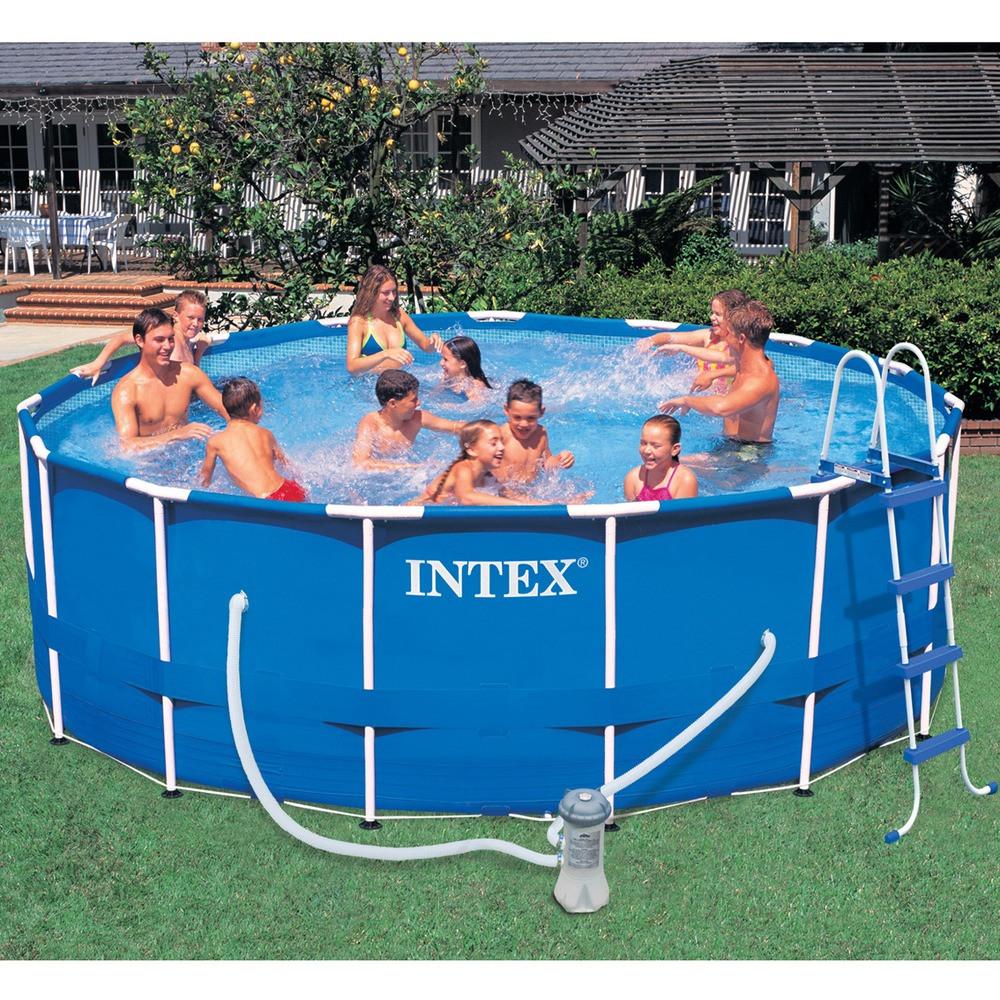 Каркасный бассейн Intex 28718 (intex 28218) 366 х 99 см с фильтр насосом и лестницей, фото 1