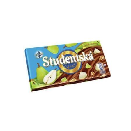 Шоколад Studentska Pecet молочный с грушей 180гр