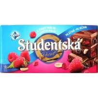 Шоколад Studentska Mlecna s chuti Malin