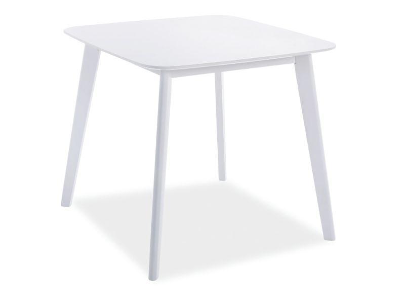 Стол деревянный кухонный обеденный на кухню столовый белый SIGMA 80x80 (Signal)