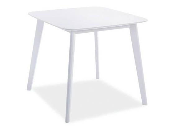 Стол деревянный кухонный обеденный на кухню столовый белый SIGMA 80x80 (Signal), фото 2