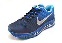 Кроссовки мужские  Nike  Air Max синие (найк аир макс)(р.45)