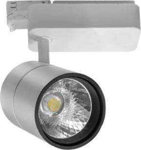 Track Light 30W 3000Lm 83Ra трехфазный трековый LED-светильник (268х110мм)