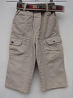 Коттоновые брюки для мальчиков Беж