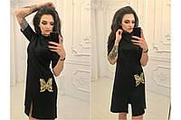 Маленькое черное платье Бабочка из итальянского трикотажа. размеры S M L