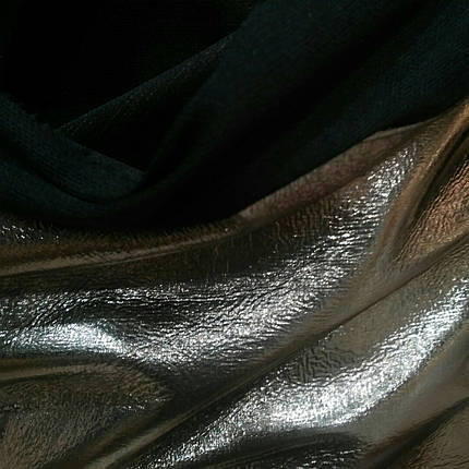 Кожзам соло серебро, фото 2