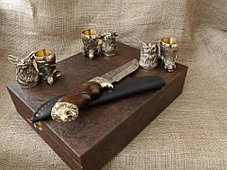 """Набор 6 чарок """"Охотничьих"""" с ножом, фото 3"""
