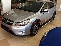 Боковые площадки из алюминия Fullmond для Subaru Forester 2012