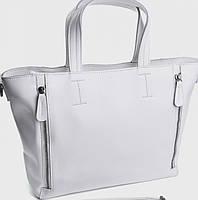 Женская сумка белого цвета из натуральной кожи