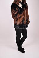Полушубок женский из натурального меха норки (объем 105см, длина 70см.) Monggier Fur