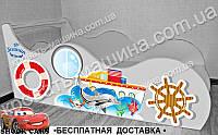 Кровать машина Кораблик + АВТОНОМЕР*, фото 1