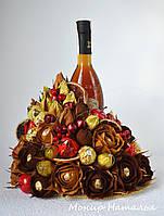 Подарок из конфет мужчине со спиртным, фото 1