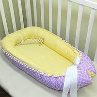 Гнездышко кокон позиционер для новорожденного BabyNest - 04