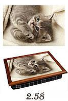 Подушка-поднос котенок проснулся