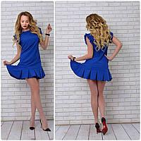 Платье 782 синий электрик