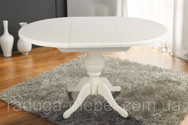 Стол деревянный круглый Анжелика  ( белый )