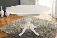 Стол деревянный круглый Анжелика  ( белый ), фото 1