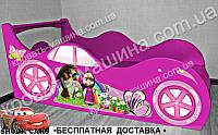 Кровать машина Маша и медведь , фото 1