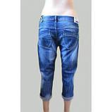 Бриджи джинсовые  высветленные синие ЛЕТО РАСПРОДАЖА!, фото 2