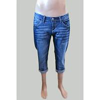 Бриджи джинсовые  высветленные синие ЛЕТО РАСПРОДАЖА!