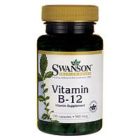 Витамин В12, 500 мкг. 100 капсул