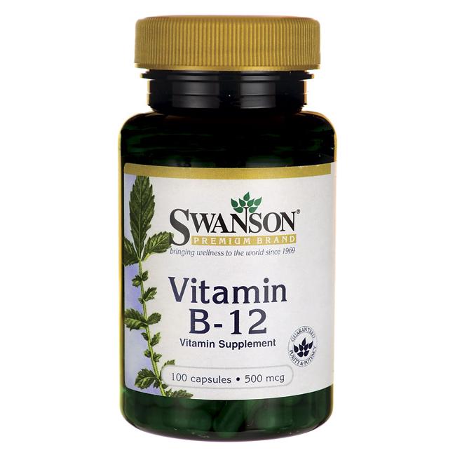 Витамины b12, 500 мкг. 100 капсул