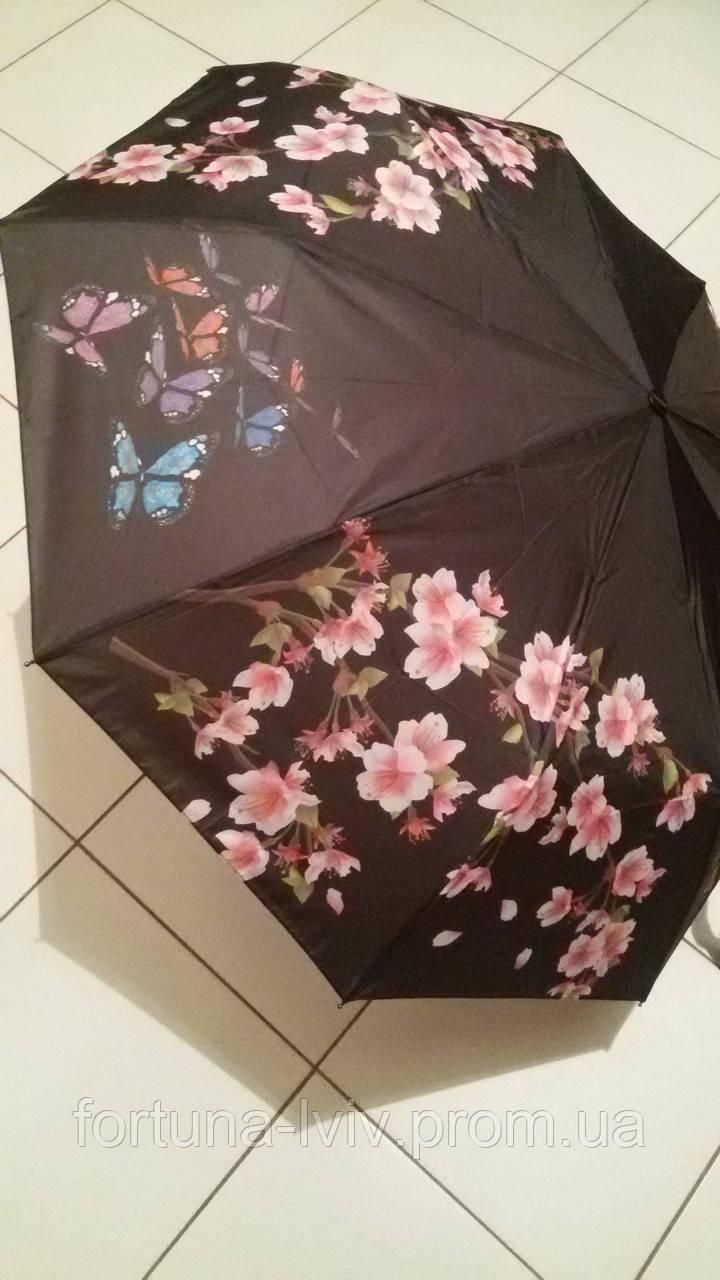 Зонт жіночий напівавтомат Метелики
