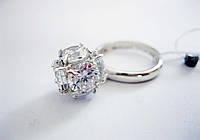 Серебряное кольцо Шарик 16,5 размер, фото 1