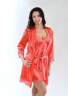 Комплект: халатик на запах + ночная сорочка (пеньюар). Разные цвета и размеры. Розница, опт в Украине., фото 1