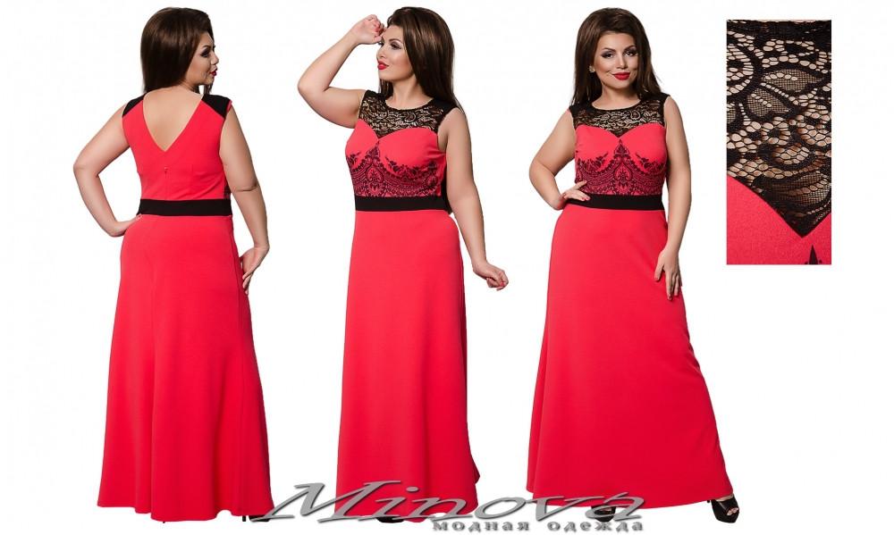 3f9ced1eccb Вечернее летнее платье в пол Кинди (размеры 48-52) - Интернет-магазин