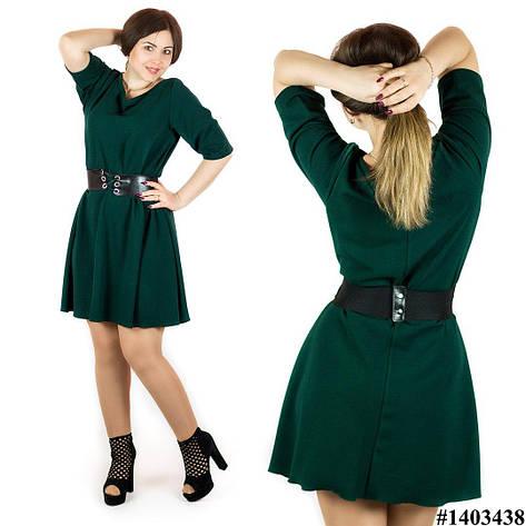 Зелёное платье 1403438, большого размера , фото 2