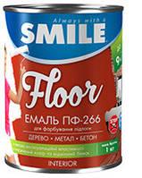 Эмаль ПФ-266 Smile Красно-Коричневая 25 кг /полы/промтара /