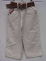 Белые коттоновые брюки для мальчиков Садик размеры: 92,98,104,110,116 роста
