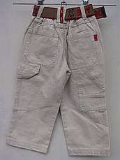 Белые брюки для мальчиков 92,98,104,110,116 роста, фото 2