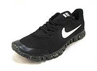 Кроссовки мужские  Nike Free Run 3.0 сетка,черные (найк фри ран)(р.41,42,43,44)