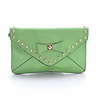Оригинальный модный стильный клатч L. Pigeon с шипами, зеленый